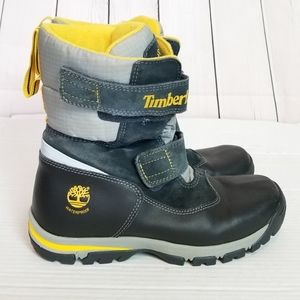TIMBERLAND black and yellow waterproof snow boots